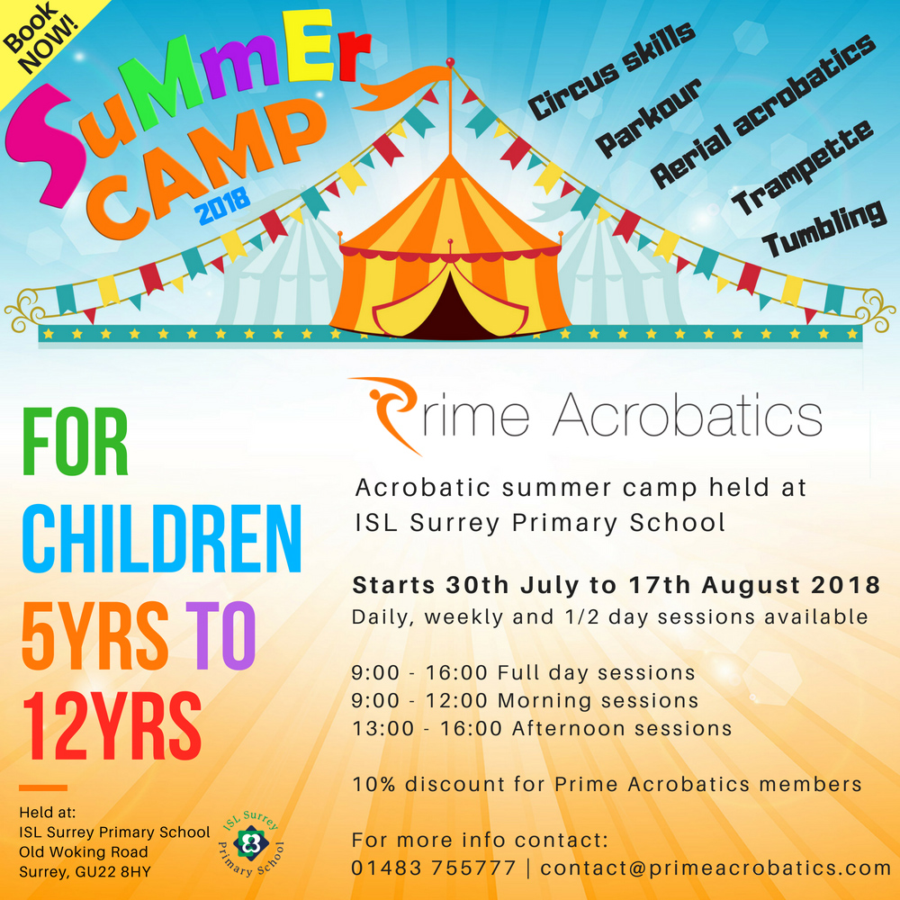 Prime Acrobatics Circus and acrobatics Summer Camp